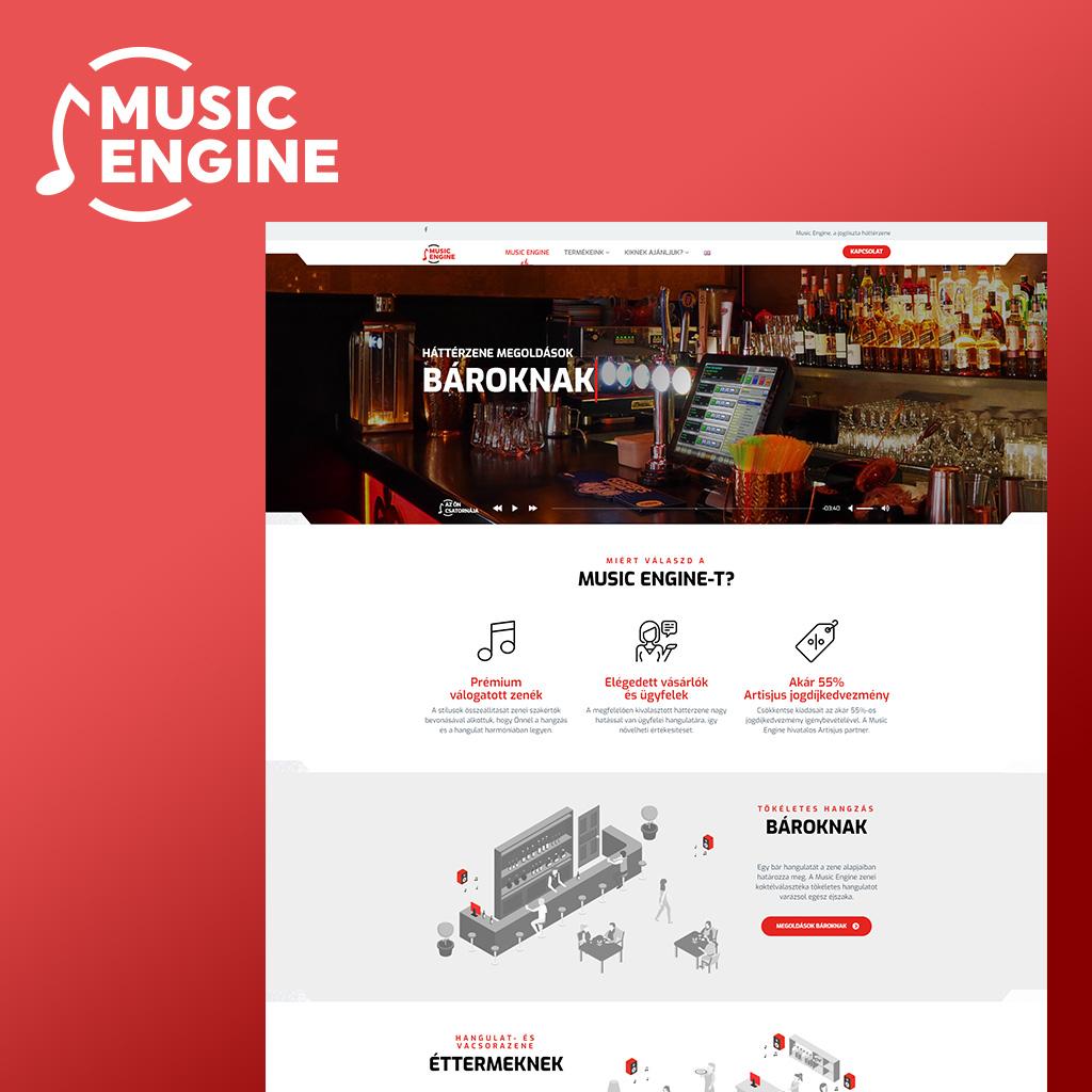 Music Engine - Arculattervezés
