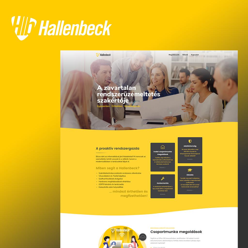 Hallenbeck - Weboldaltervezés